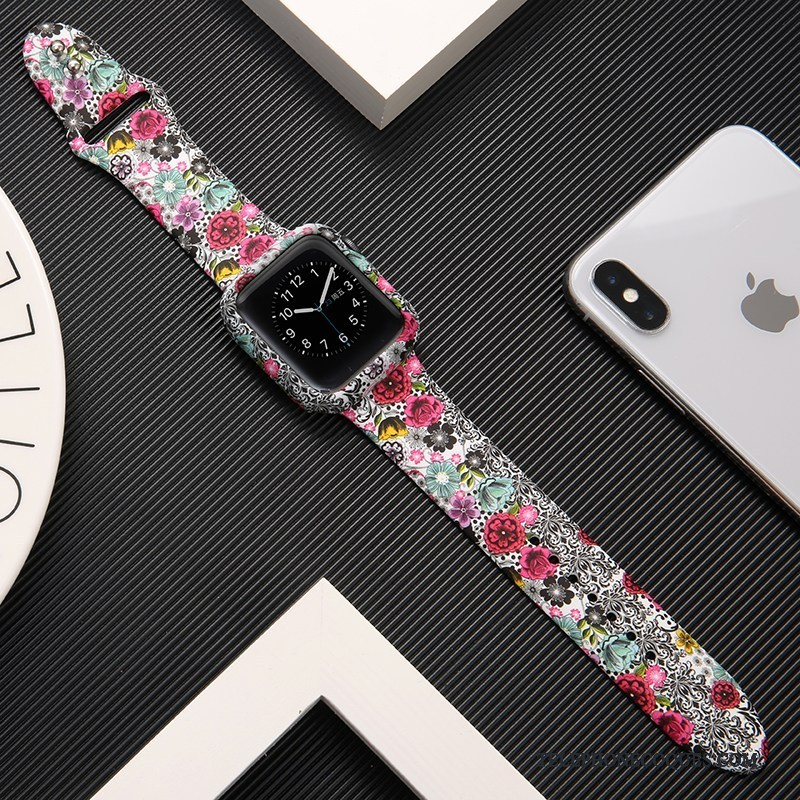 Coque Pour Apple Watch Series 1 Imprimé Créatif Tout Compris Protection Tendance
