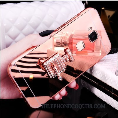Coque Pour Huawei G7 Plus Étui Border Téléphone Portable Or Rose Mignonne Couvercle Arrière