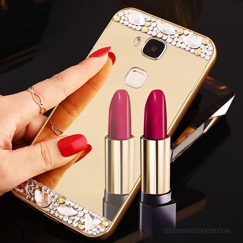 Coque Pour Huawei G7 Plus Border De Téléphone Tendance Strass Protection Miroir