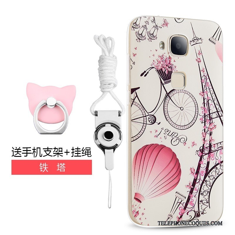 Coque Pour Huawei G7 Plus Rouge Protection Tendance Étui Tout Compris Silicone