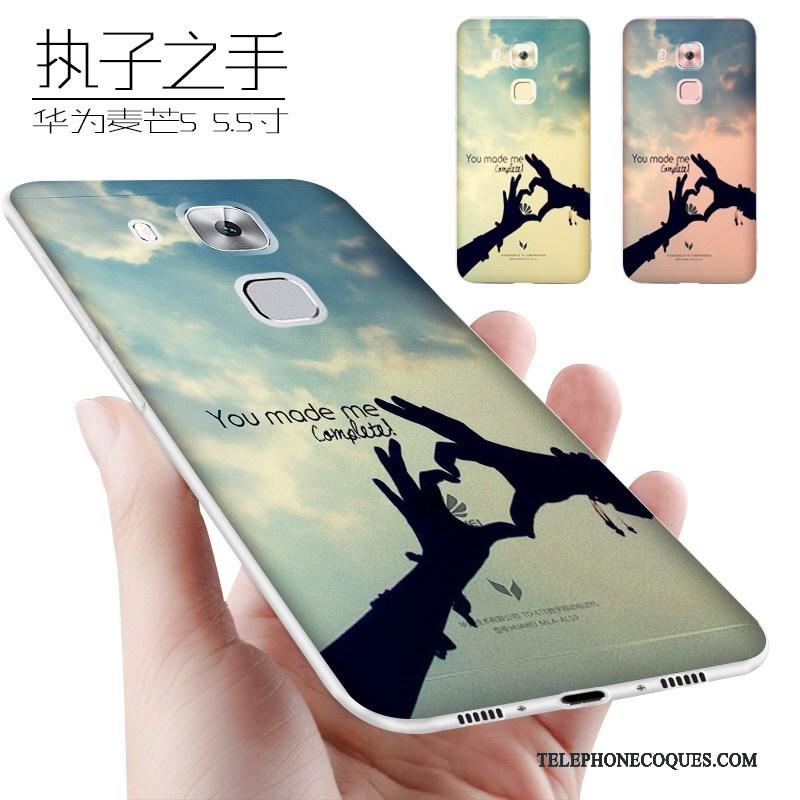 Coque Pour Huawei G9 Plus Délavé En Daim Incassable Fluide Doux Tendance De Téléphone Étui