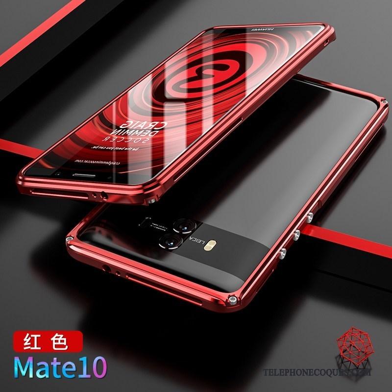 Coque Pour Huawei Mate 10 Couvercle Arrière Rouge Protection Border Étui De Téléphone