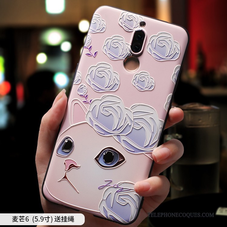 Coque Pour Huawei Mate 10 Lite Ornements Suspendus Fluide Doux Tendance Silicone Petit Incassable