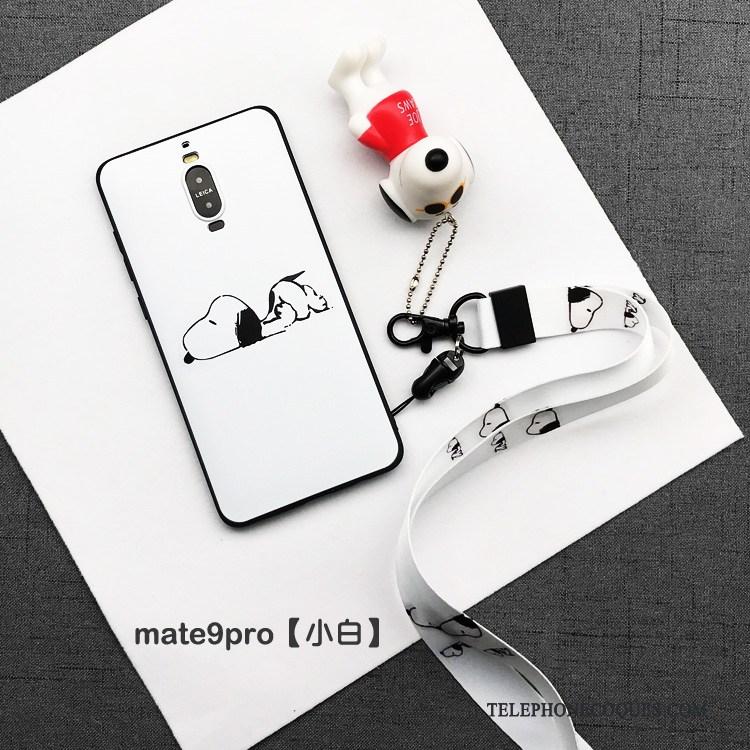 Coque Pour Huawei Mate 9 Pro Très Mince De Téléphone Silicone Noir Personnalité Tout Compris
