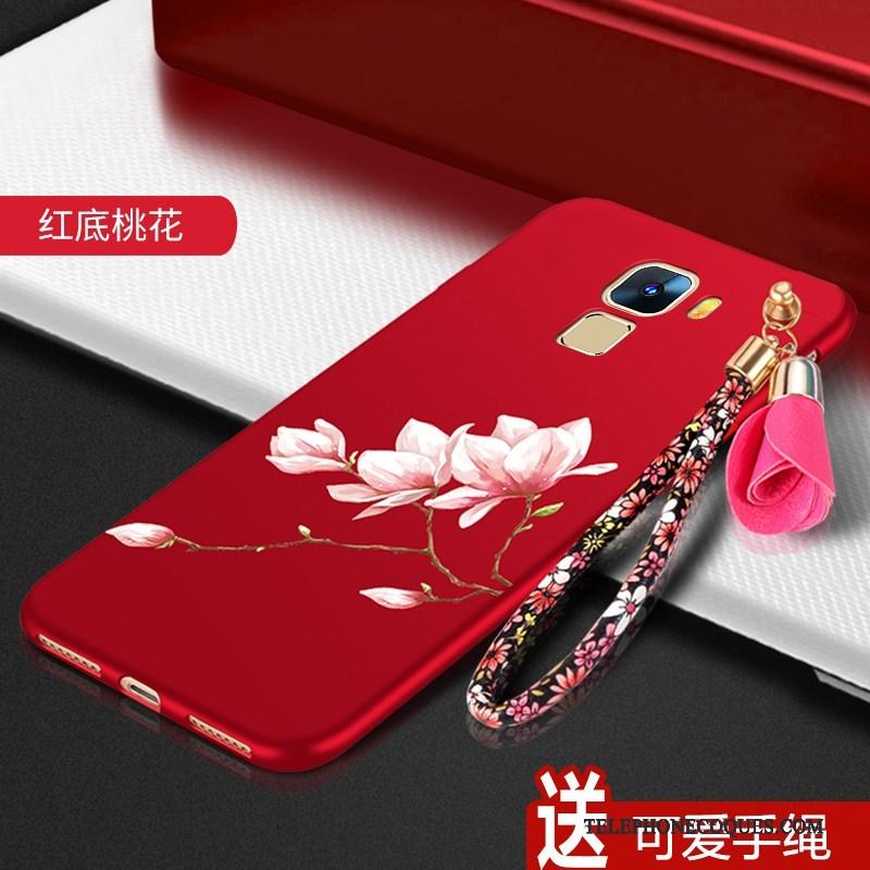 Coque Pour Huawei Mate S Rouge Silicone Étui Incassable De Téléphone Tendance