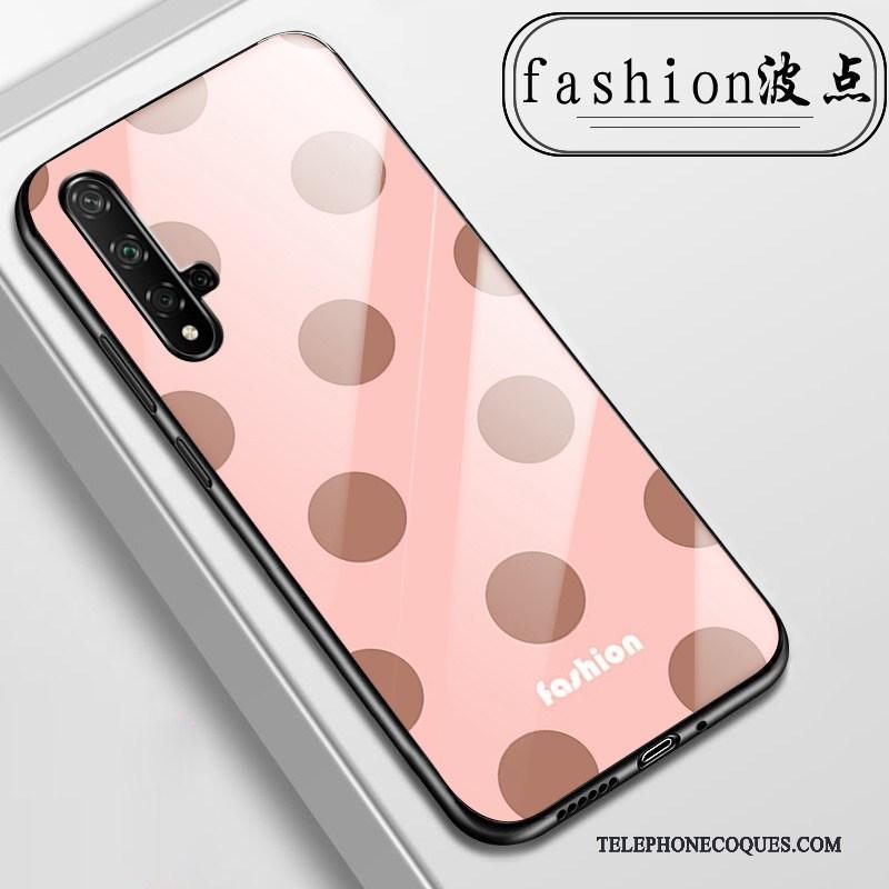 Coque Pour Huawei Nova 5t De Téléphone Rose Étui Verre Fleurs Tout Compris
