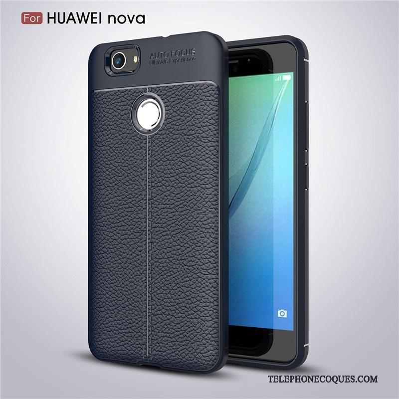Coque Pour Huawei Nova De Téléphone Étui Protection Noir Fluide Doux Tout Compris