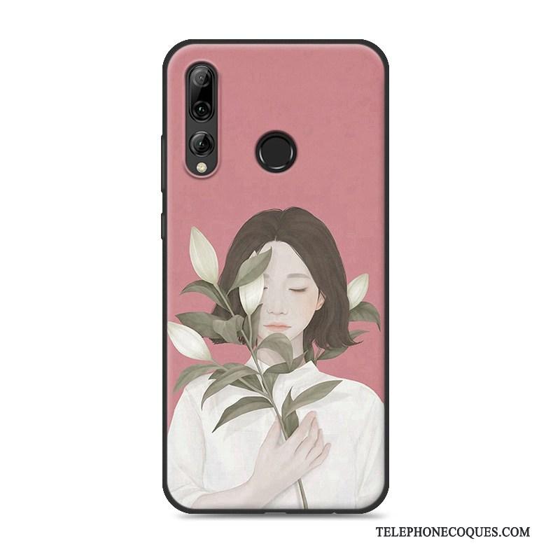 Coque Pour Huawei P Smart+ 2019 Téléphone Portable Protection Petit Étui Frais Rose