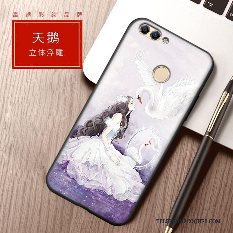 Coque Pour Huawei P Smart Bleu Étui Tout Compris Silicone Tendance Protection