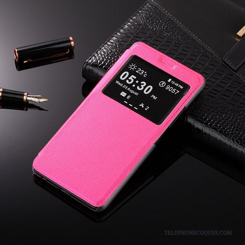 Coque Pour Huawei P Smart Rouge Téléphone Portable De Téléphone Étui Incassable Ouvrir La Fenêtre