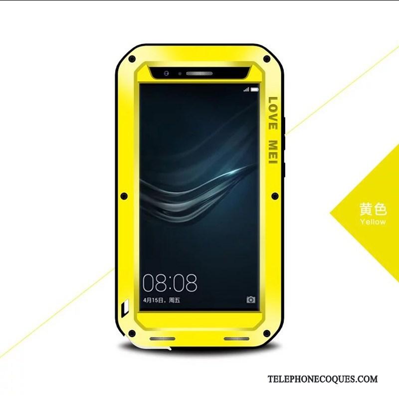 Coque Pour Huawei P10 Plus Métal De Téléphone Incassable Étui Silicone Trois Défenses