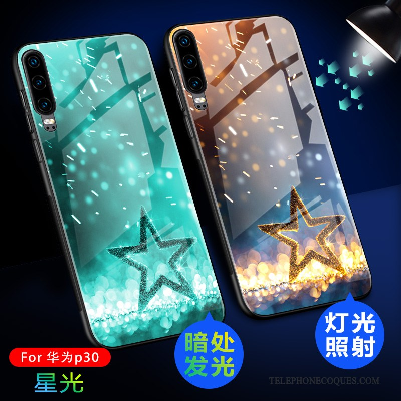 Coque Pour Huawei P30 De Téléphone Luxe Ultra Protection Tout Compris Délavé En Daim