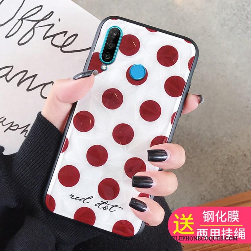 Coque Pour Huawei P30 Lite Personnalité Membrane Tendance De Téléphone Tempérer Rouge