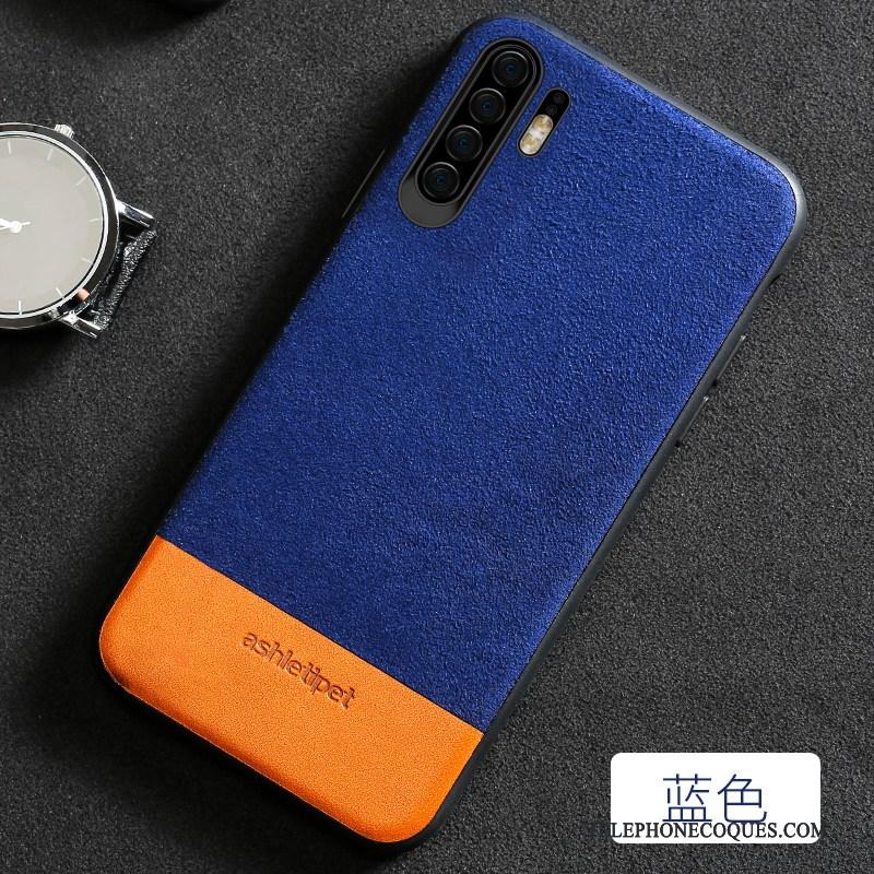 Coque Pour Huawei P30 Pro Épissure Créatif Tout Compris Daim Fourrure Élégant Luxe