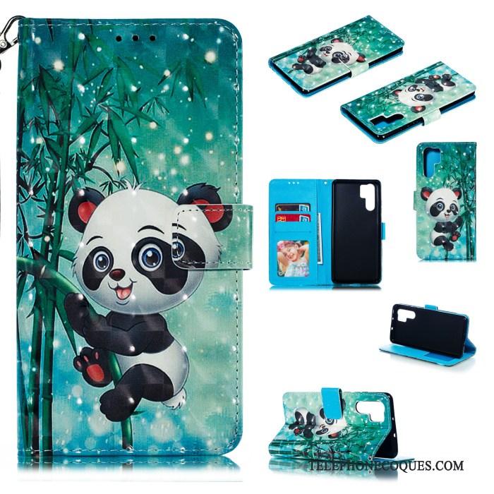 Coque Pour Huawei P30 Pro Étui En Cuir Housse Personnalité Vert Créatif Support