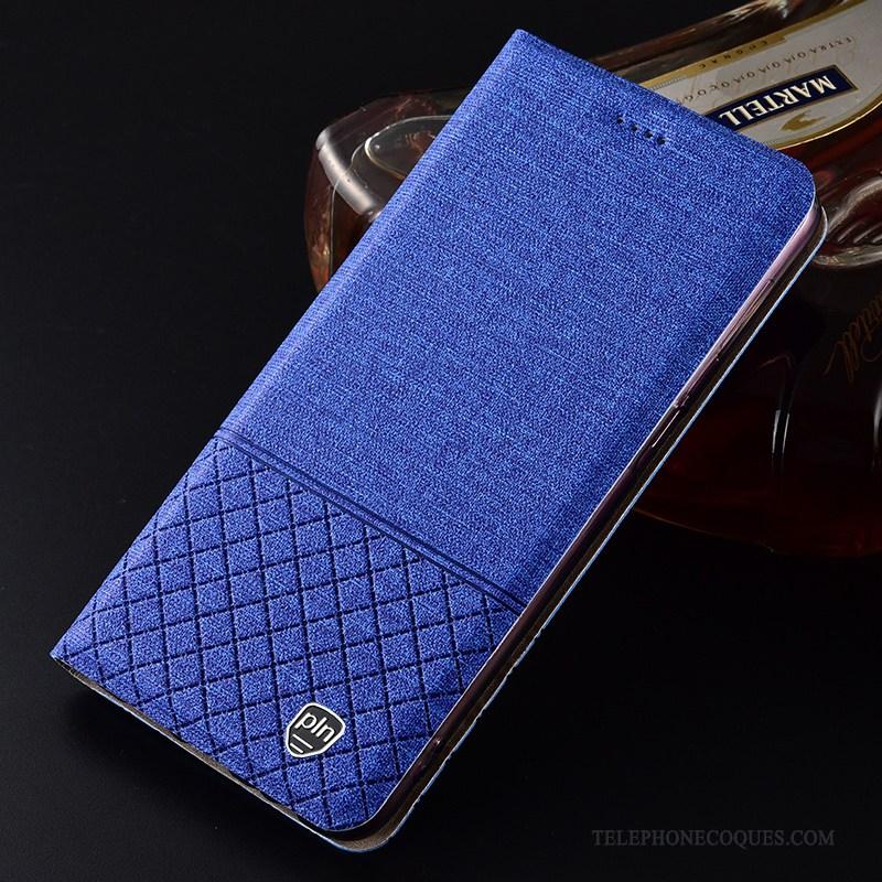 Coque Pour Huawei P30 Pro De Téléphone Plaid Bleu Protection Tout Compris Étui
