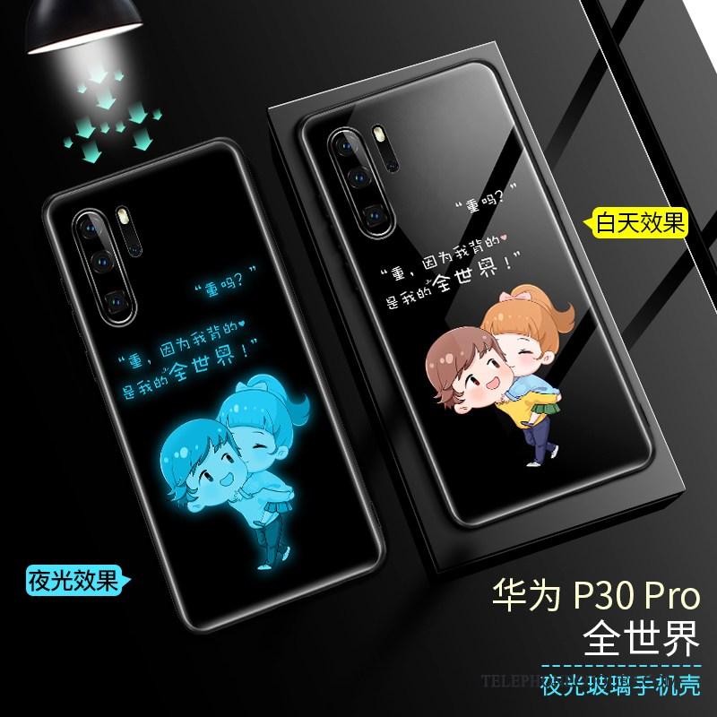 Coque Pour Huawei P30 Pro Net Rouge Marque De Tendance Bleu Protection Étui Verre