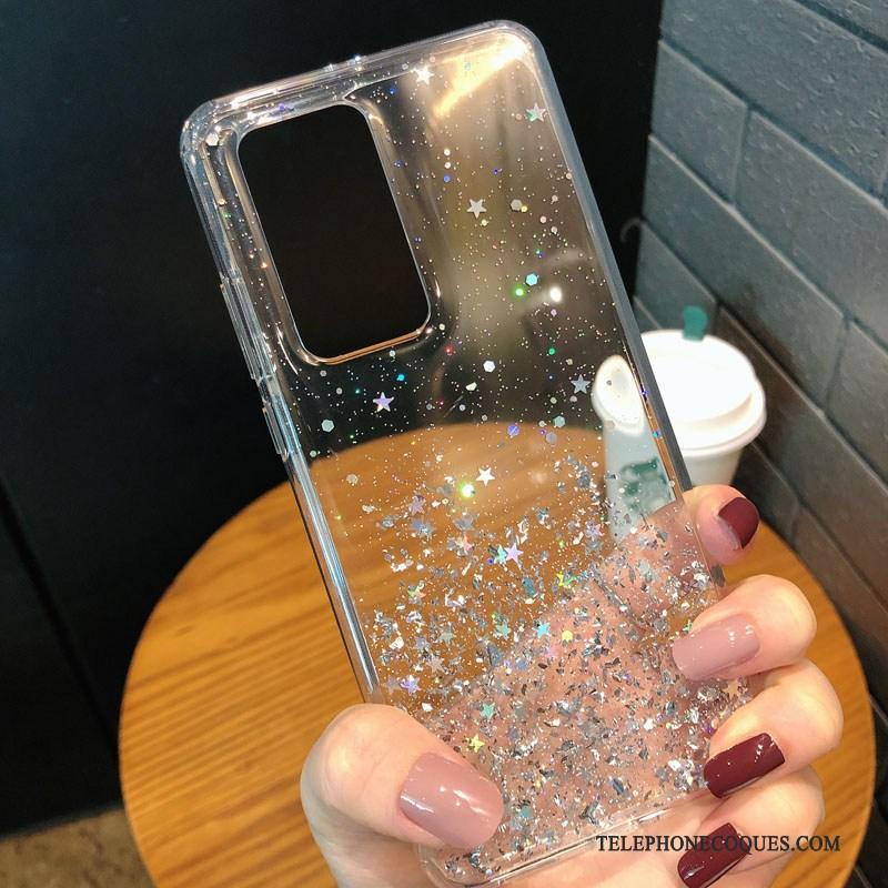 Coque Pour Huawei P40 Pro Incassable Transparent Ballon De Téléphone Fluide Doux