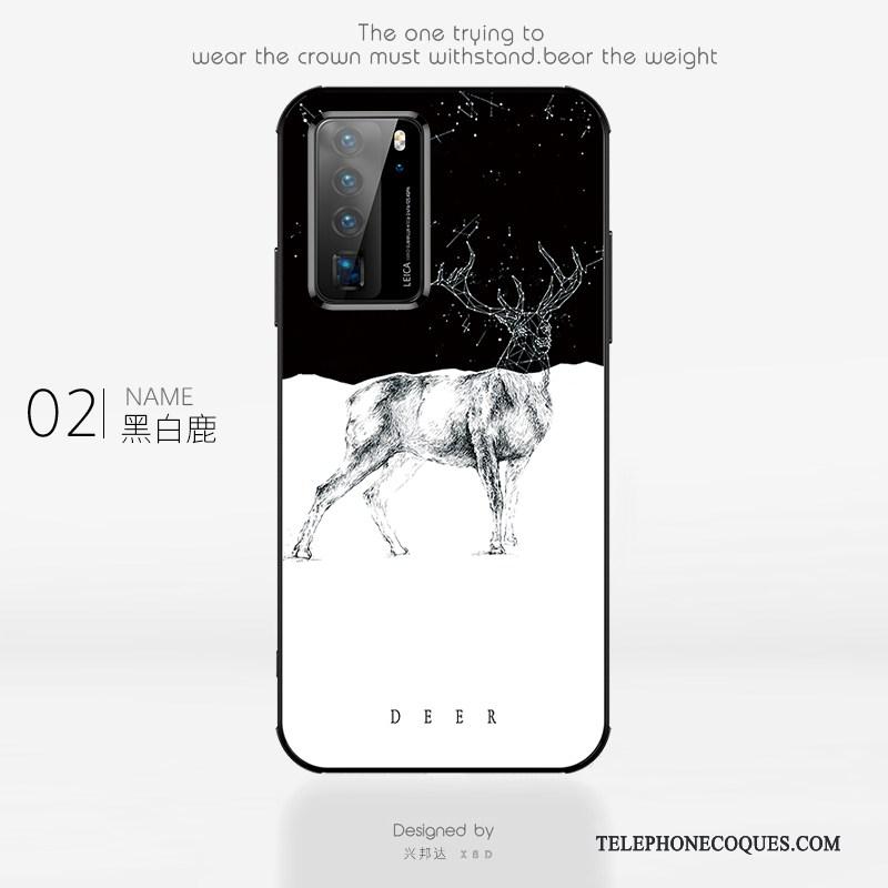 Coque Pour Huawei P40 Pro Marque De Tendance Simple Créatif Net Rouge Étui Personnalité