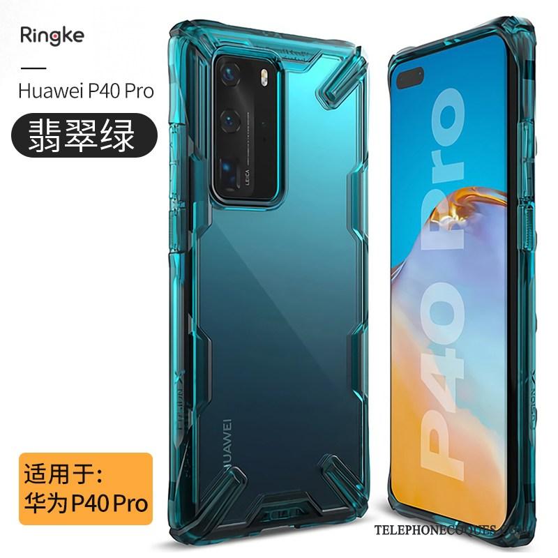Coque Pour Huawei P40 Pro Noir Luxe Personnalité Transparent Tout Compris