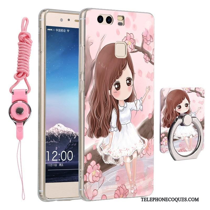 Coque Pour Huawei P9 Incassable Dessin Animé Silicone Légère De Téléphone Tout Compris