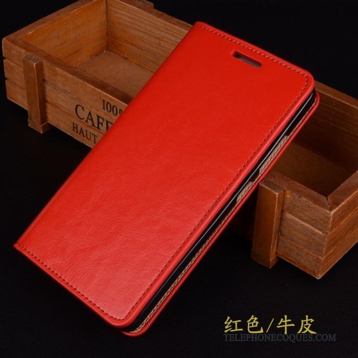 Coque Pour Huawei P9 Plus Étui En Cuir Protection Incassable Rouge De Téléphone Téléphone Portable