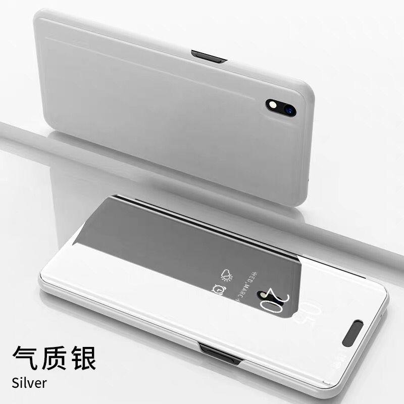 Coque Pour Huawei Y5 2019 Transparent Étui En Cuir Membrane Bleu Incassable De Téléphone