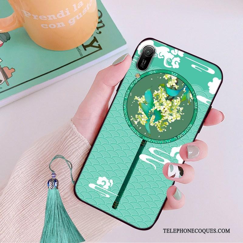 Coque Pour Huawei Y6 2019 Tendance Incassable Rose Personnalité De Téléphone Légère
