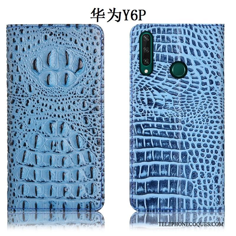Coque Pour Huawei Y6p Protection Modèle Fleurie Étui Housse Noir De Téléphone