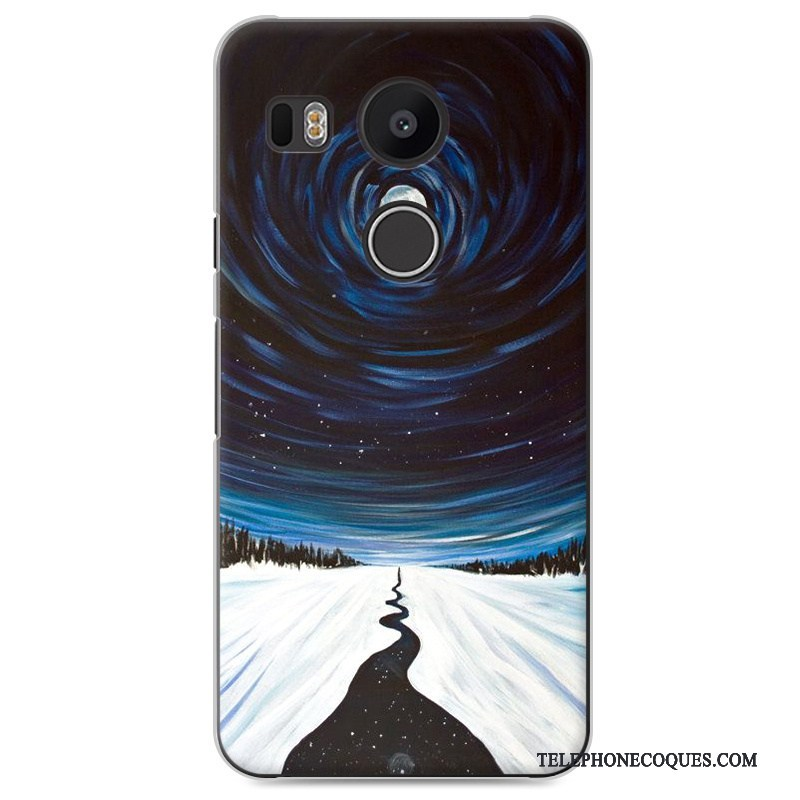 Coque Pour Lg Nexus 5x Téléphone Portable Étui Peinture Incassable Difficile