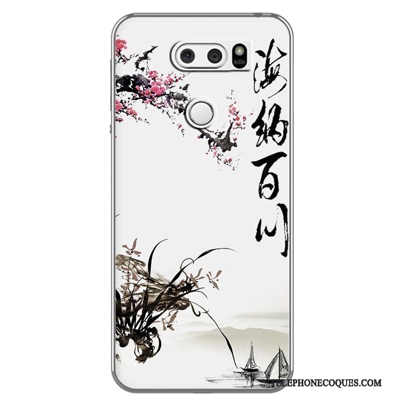 Coque Pour Lg V30 Fluide Doux Style Chinois Étui Personnalité Téléphone Portable