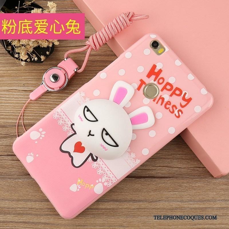 Coque Pour Mi Max 2 Rose Ornements Suspendus Protection Silicone Incassable De Téléphone