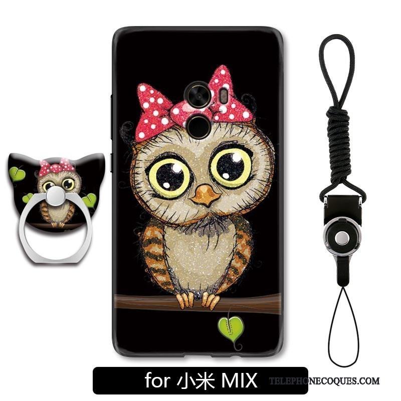 Coque Pour Mi Mix 2 Chat De Téléphone Incassable Dessin Animé Charmant Bleu