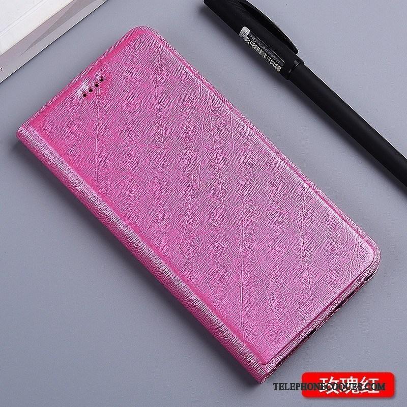 Coque Pour Mi Note 3 Rose Soie Étui Petit Protection Étui En Cuir