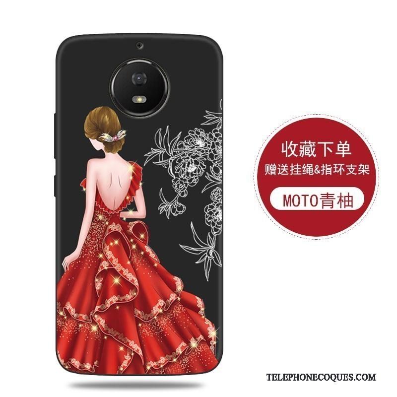 Coque Pour Moto G5s De Téléphone Protection Incassable Bleu Rouge Fluide Doux