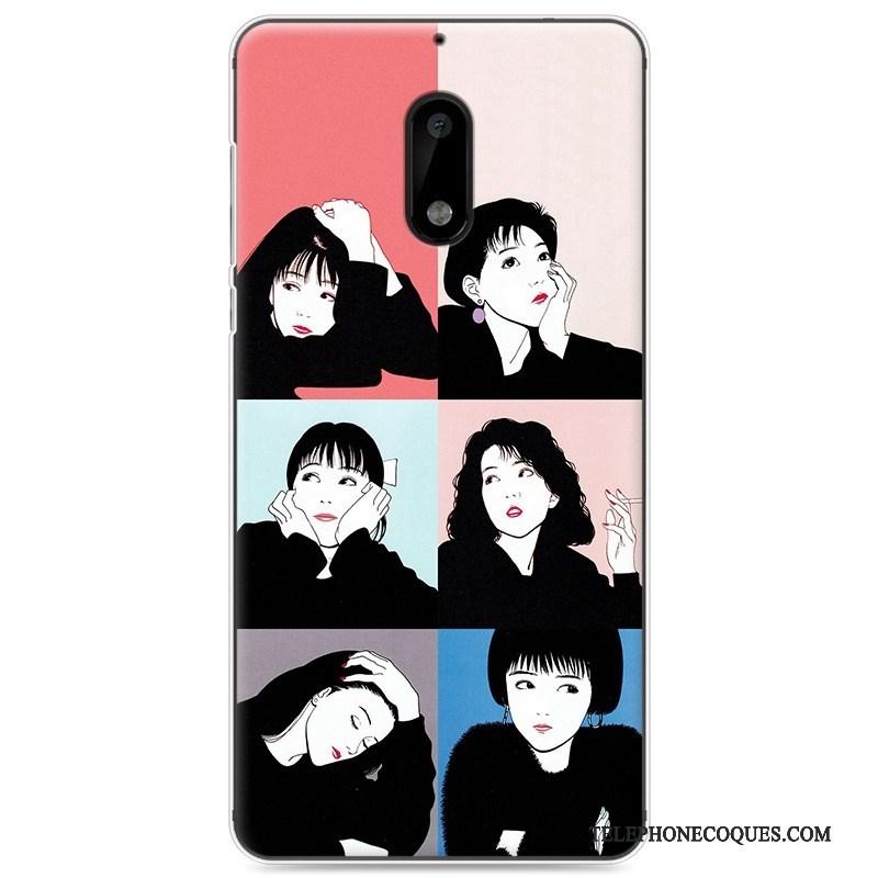 Coque Pour Nokia 6 Rose Protection Fluide Doux De Téléphone Téléphone Portable