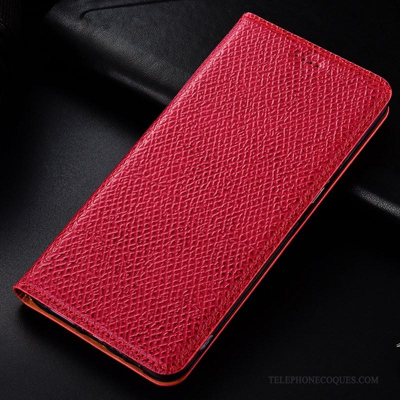 Coque Pour Redmi 7 Rouge Incassable Mesh Modèle Fleurie Téléphone Portable Étui En Cuir