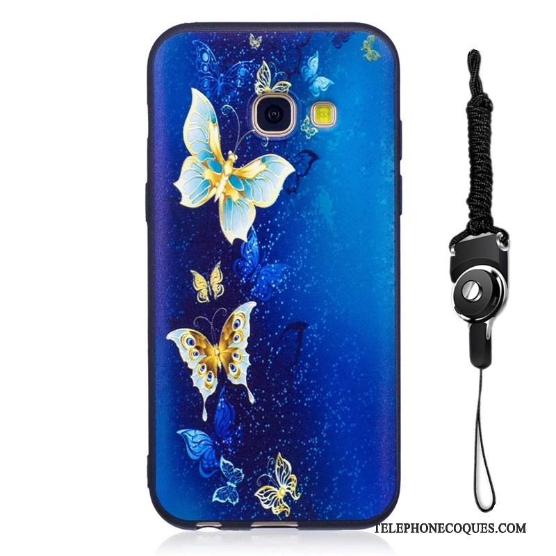 Coque Pour Samsung Galaxy A3 2017 De Téléphone Dessin Animé Peinture Étoile Jaune Protection