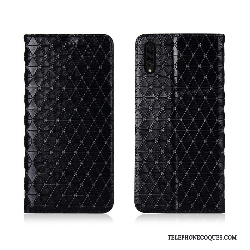 Coque Pour Samsung Galaxy A30s Téléphone Portable Étui En Cuir Plaid Housse Incassable De Téléphone