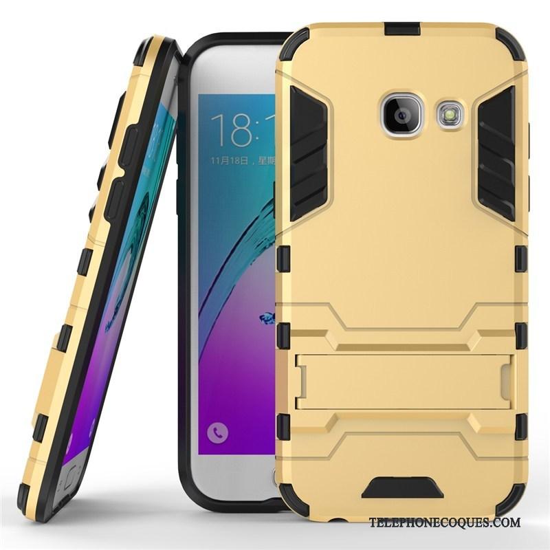 Coque Pour Samsung Galaxy A5 2017 Incassable Étoile Argent Protection Difficile