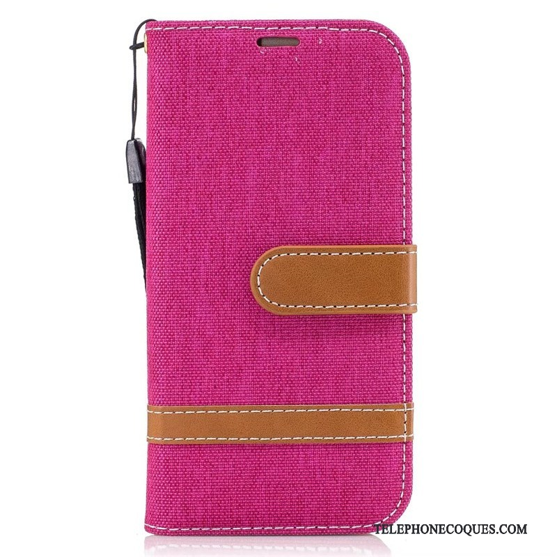Coque Pour Samsung Galaxy A5 2017 Rouge Étoile Portefeuille Téléphone Portable Housse