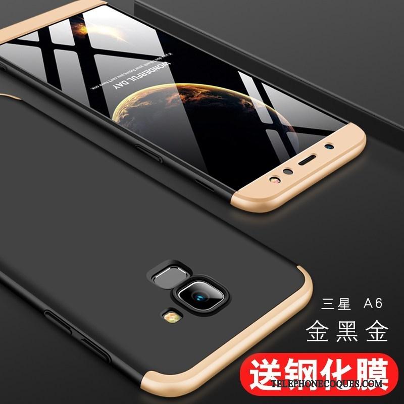 Coque Pour Samsung Galaxy A6 Étui De Téléphone Tout Compris Rouge Difficile Étoile
