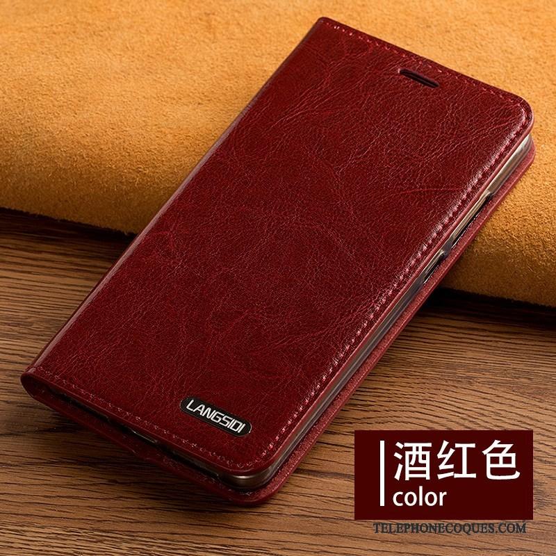 Coque Pour Samsung Galaxy A7 2015 Cuir Véritable Étui Protection Étui En Cuir Incassable De Téléphone