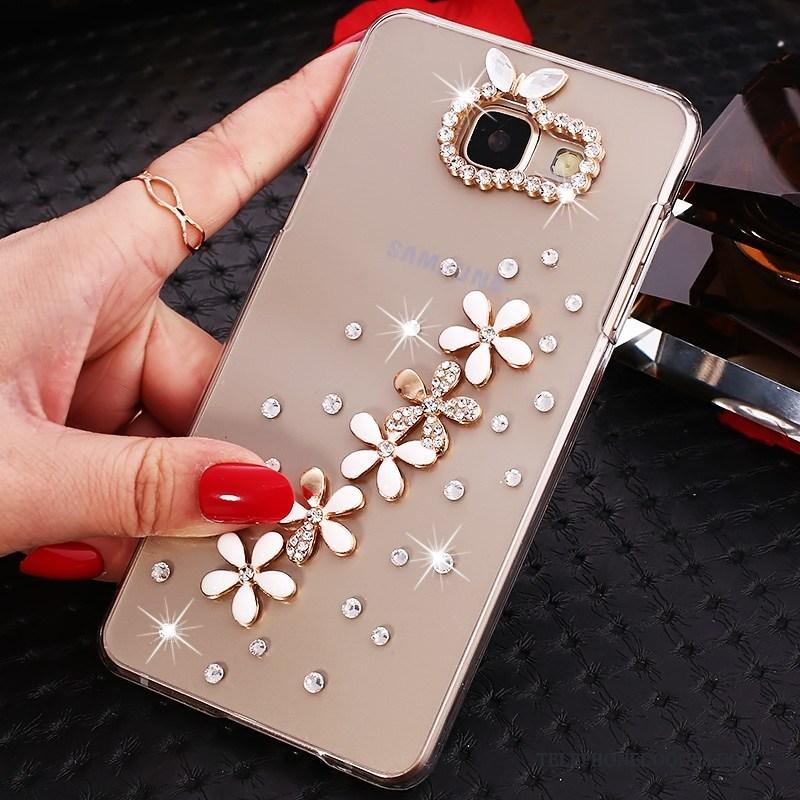 Coque Pour Samsung Galaxy A7 2016 Étui Étoile De Téléphone Incruster Strass Protection Transparent