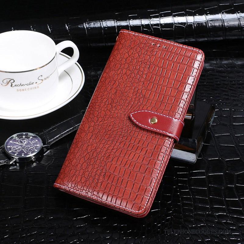 Coque Pour Samsung Galaxy A70 De Téléphone Crocodile Modèle Étui Étoile Incassable Rouge