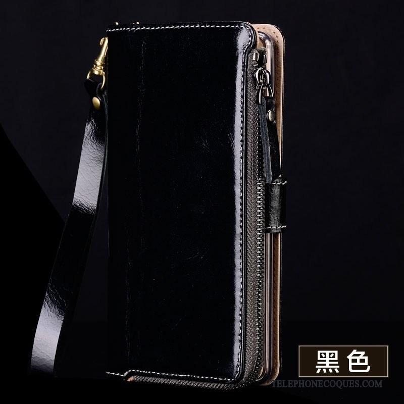 Coque Pour Samsung Galaxy A9 Portefeuille Marron Étui Protection Silicone De Téléphone