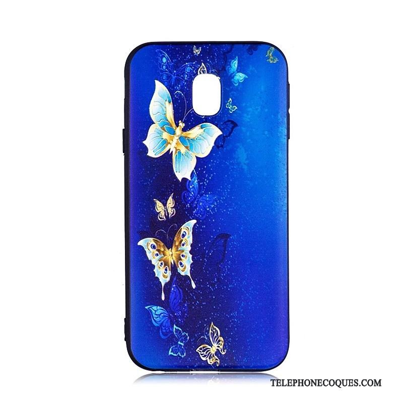 Coque Pour Samsung Galaxy J3 2017 Dessin Animé Tendance Multicolore Peinture Fluide Doux De Téléphone