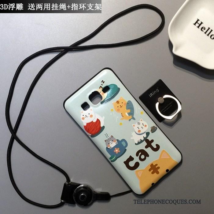Coque Pour Samsung Galaxy J7 2015 Délavé En Daim Noir De Téléphone Silicone Incassable Étui