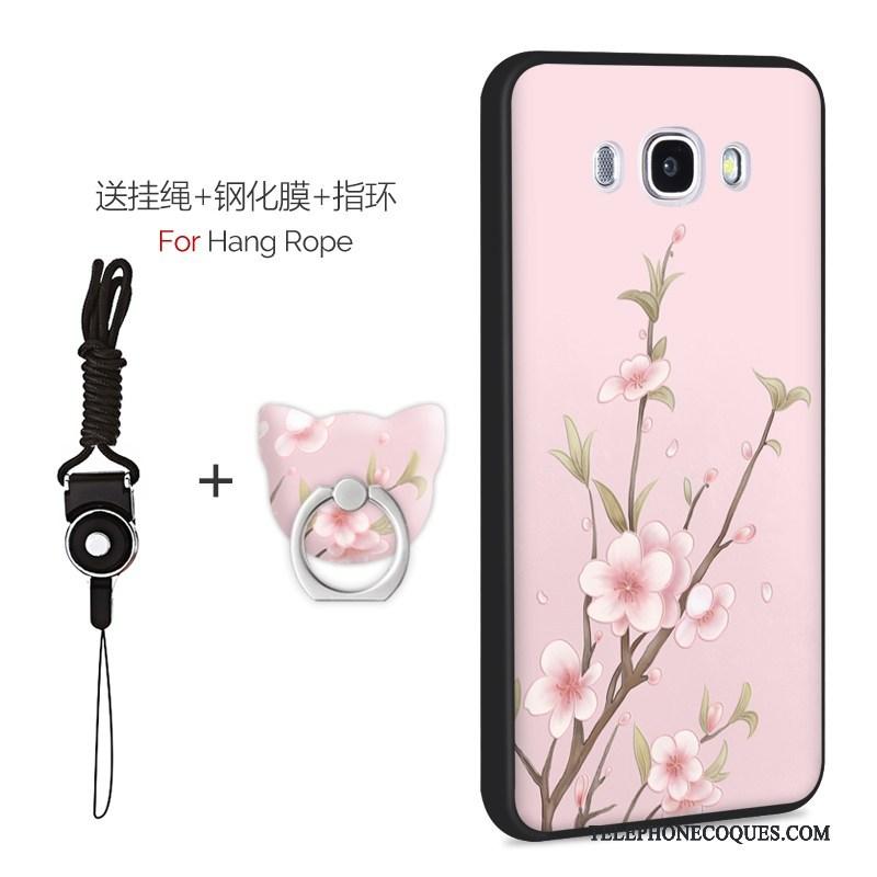 Coque Pour Samsung Galaxy J7 2016 Délavé En Daim Téléphone Portable Fluide Doux Personnalité Vert Étui