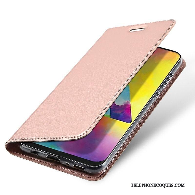 Coque Pour Samsung Galaxy M20 Étoile Tempérer Or Rose Étui Membrane De Téléphone